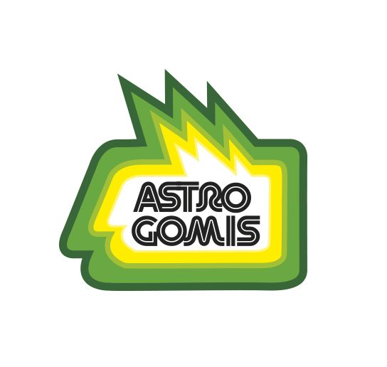 Astro Gomis Jelly logo and Packaging