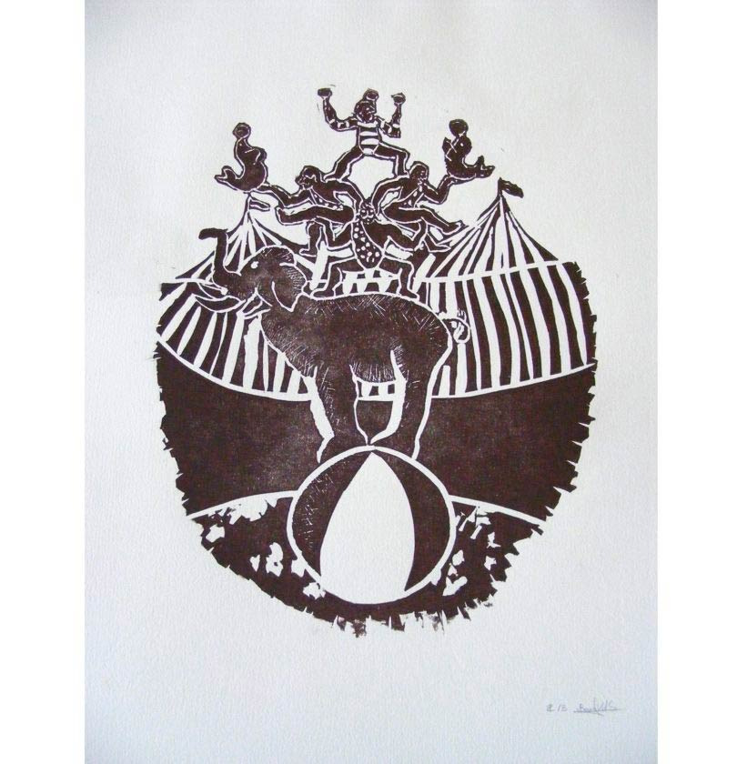 Circus Illustration Engraving